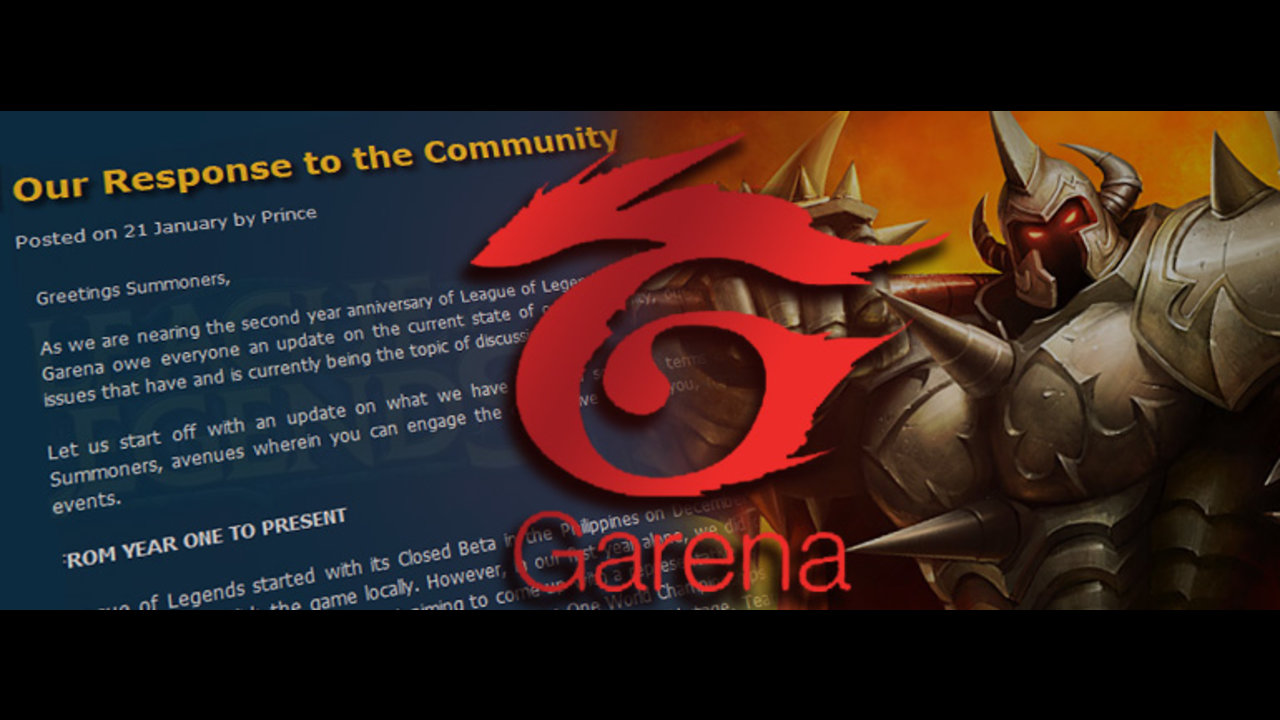 Statement of Garena PH to community - Mineski net