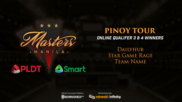 Pinoy Tour: Dailyhub, Star Game Rage, and Team Name Win Last Online Qualifiers