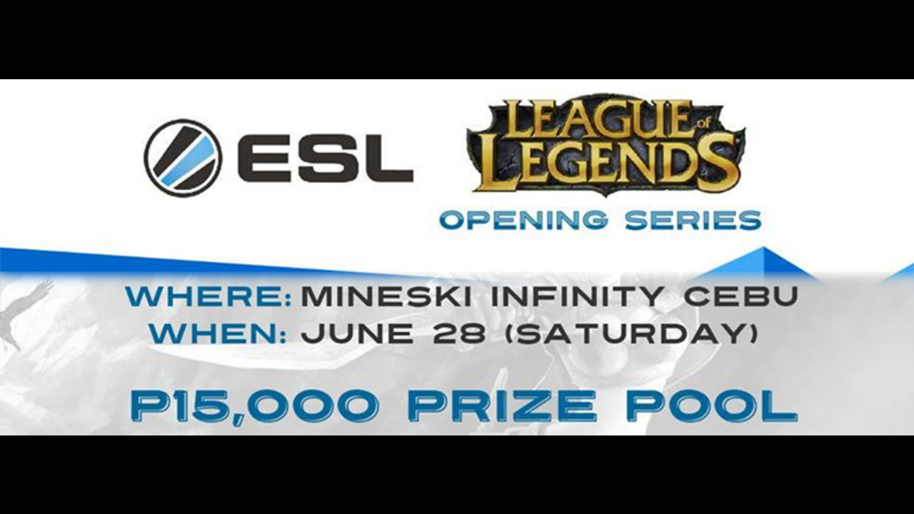 ESL PH League of Legends LAN tournament this Saturday at MI Cebu