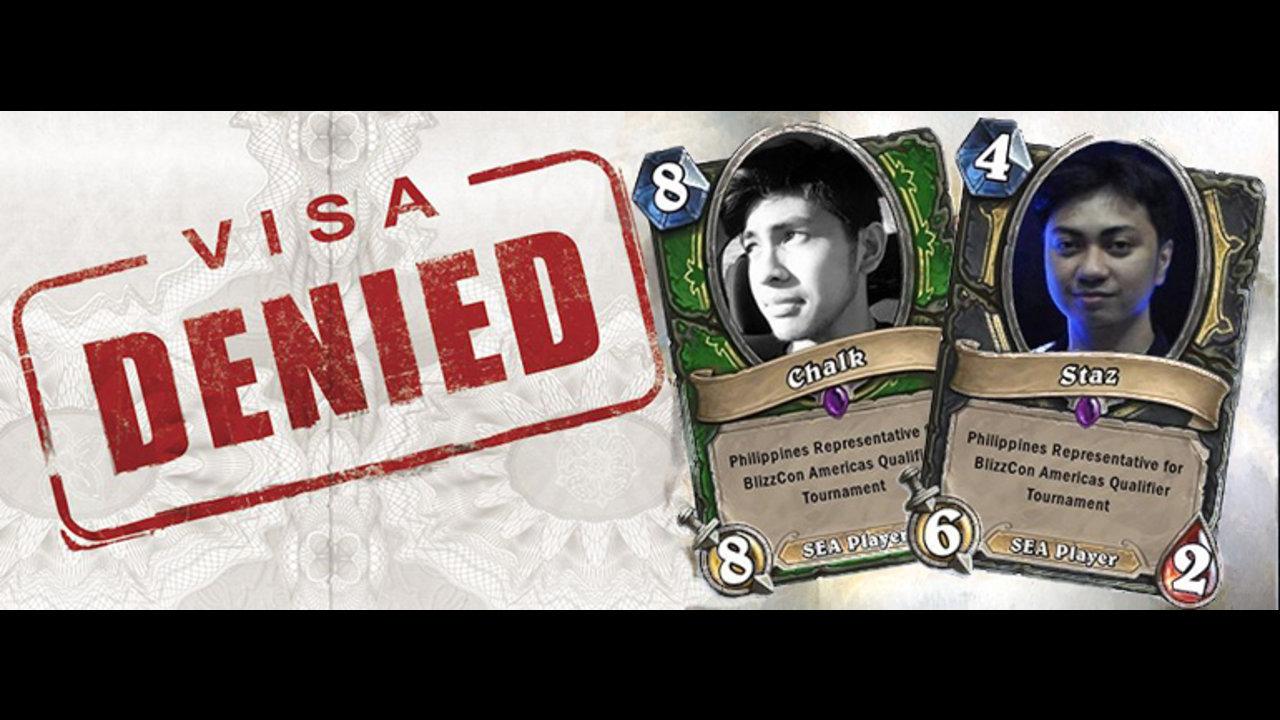 BlizzCon:North American Qualifiers Philippine Representatives' VISAs Denied!
